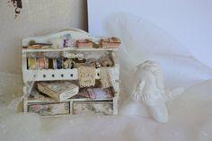 Miniature sewing shelf by DEMENTEAMANO on Etsy