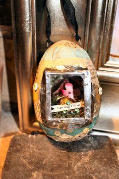 Collaged, Soldered Egg , Spring Soldering class, Terri Brush , online