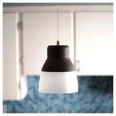 Battery Operated Bronze Gl Pendant Light With Remote