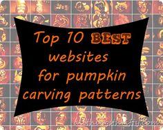 The top 10 best websites for pumpkin carving patterns.