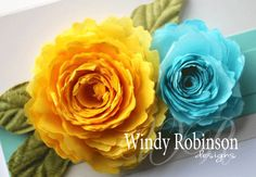 Rolled Tissue Paper Flowers tutorial