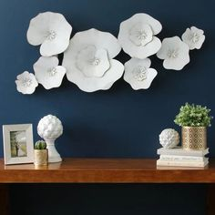 Floral Wall decorations - Lily Pad Metal Wall Décor Metal Flower Wall Decor, Metal Tree Wall Art, Metal Wall Sculpture, Wall Decor Set, Metal Flowers, Wall Sculptures, Tree Sculpture, 3d Wall Art, Wall Decorations