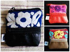 Monederitos. Bordado artesanal de Jalapa de Díaz Oaxaca #Artesanal #Hechoamano #HechoenMéxico #Handmade #Embroidery #Diseñomexicano de @Lunaje