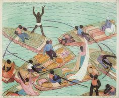 Merchants, Port Said, 1932, Ethel Louise Spowers