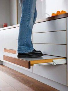Solução para armários que ficam no alto.