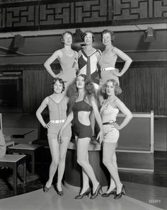 Shorpy Historic Picture Archive :: Goodyear Girls: 1932 high-resolution photo