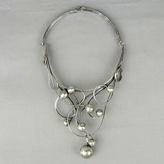 Sterling Silver Necklaces, Jewelry Necklaces, Pinterest Jewelry, Wearable Art, 1970s, Feminine, Artists, Sculpture, Vintage