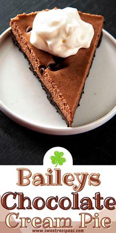 Irish Chocolate, Chocolate Cream, Yummy Treats, Sweet Treats, Easy To Make Desserts, Baileys Irish Cream, Pie Recipes, Baked Goods, Pastries