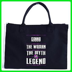Ganna The Woman The Myth Legend Funny Grandmother - Tote Bag - Top handle bags (*Amazon Partner-Link)