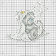 I'd give my right arm for the actual kit! Baby Cross Stitch Patterns, Cross Stitch For Kids, Cute Cross Stitch, Cross Stitch Animals, Cross Stitch Kits, Cross Stitch Charts, Cross Stitch Designs, Tatty Teddy, Cross Stitching