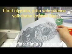 Serigrafia: kuvan siirtäminen seulalle - YouTube Facial Tissue, My Works, Personal Care, Youtube, Self Care, Personal Hygiene, Youtubers, Youtube Movies