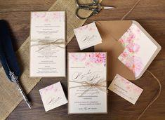 NOVÝ SVADOBNÝ VINTAGE SET 🌺🌱🌸 Tento prekrásny svadobný set kombinuje dva štrukturované papiere s motívom romantických ruží a čerešňových kvetov. A navyše dizajn svadobného oznámenia a menu kartičky je doplnený o ručne viazanú mašličku zo špagátu. 😊  #Svadba #svadobneoznamenia #zasnuby Place Cards, Place Card Holders, Design, Weddings, Vintage, Invitation Text, Natural Colors, Card Wedding, Personalized Stationery