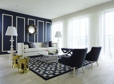 Greg Natale | Sydney based architects and interior designers - navy blue and white - lurve!!