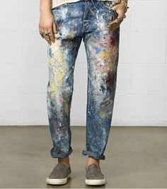 Denim & Supply Ralph Lauren Paint Splatter Boyfriend Jeans ($165) // How to Dress Like A Gallery Girl