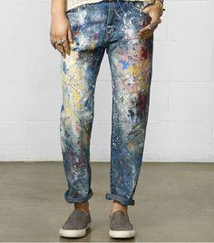 Denim & Supply Ralph Lauren Paint Splatter Boyfriend Jeans ($165) // How to Dress Like A Gallery Girl