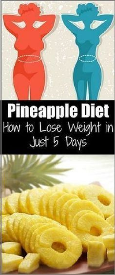 Pineapple Diet: How to Lose Weight in Just 5 Days Ananas-Diät: Abnehmen in nur 5 Tagen Fast Weight Loss, Weight Loss Program, Weight Gain, Weight Loss Tips, How To Lose Weight Fast, Losing Weight, Reduce Weight, Lose Fat, Fat Fast