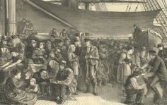 1872 Illustrated London News  The Steerage of North Geran Lloyd's Atlantic Steam-ship  Collection of Maggie Land Blanck