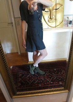 Kleid seide 40