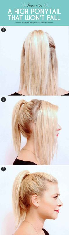 Here's a cool technique for getting all those stray baby hairs to stay in your ponytail.