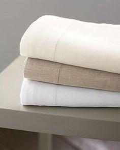Hemstitched Italian Linen Bedding