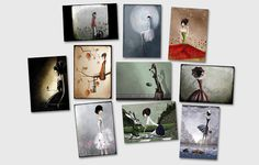 Set of 20 postcards of your choice  #1  - 15x 10 cm - print on Bristol paper by professional