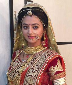 Helly shah(swaragi I) Indian Wedding Bride, Indian Wedding Fashion, Indian Wedding Outfits, Bridal Wedding Dresses, Indian Tv Actress, Beautiful Indian Actress, Beautiful Bride, Dulhan Dress, Dulhan Pic