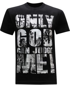 California Republic Only God Can Judge Me Men's T-Shirt - (XX-Large) - Black fast shipping good quality fabric designed to last a lifetime proudly printed in the USA with North American garment makes a great gift! T Shirt Designs, Hang Ten, Camisa Floral, Casual Shirts, Tee Shirts, California Republic, Christian Shirts, Christian Clothing, Christian Women