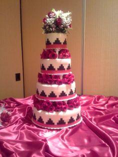 Navajo Basket Weave Wedding Cake Western Wedding Cakes, Western Cakes, Floral Wedding Cakes, Wedding Cake Designs, Wedding Ideas, Wedding Decor, Wedding Stuff, Wedding Planning, Wedding Inspiration
