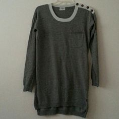 Madewell grey sweater tunic top bought at Madewell, grey sweater, barely worn Madewell Tops