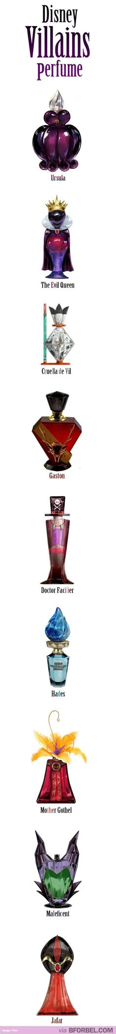 These are amazing villain inspired perfume bottles!! Is it wrong that I want all of them?!