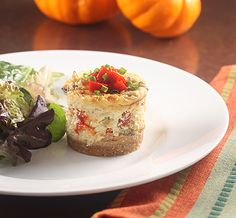Crab and Mushroom Cheesecakes with Spanish Cava from Creative Culinary