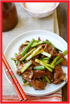 Mongolian Beef is one of the best Chinese recipes. This easy Mongolian beef recipe is better than Chinese takeout and PF Chang's. Chinese Beef Recipes, Meat Recipes, Asian Recipes, Cooking Recipes, Healthy Recipes, Indonesian Recipes, Asian Foods, Dinner Recipes, Easy Mongolian Beef