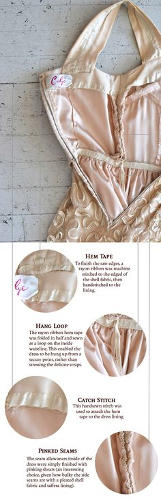 Behind The Seams: 1950's Pleated Dress by The Carlye Dress Corporation | Coletterie