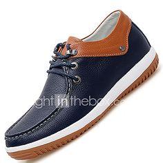 Hombre Los zapatos de cuero Cuero Primavera   Otoño Confort Oxfords  Antideslizante Blanco   Azul b8ea81aa44b4