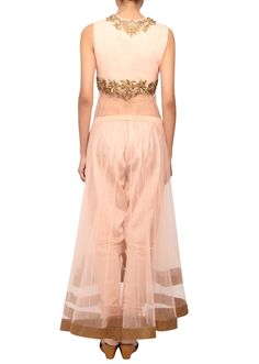 Rose pink sheer salwar suit with dupatta only on Kalki - Kalkifashion.com