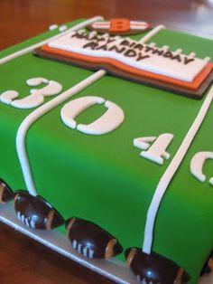 gk designs: 30th Birthday Football Cake