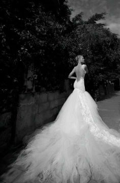Wedding dress...with a loooooong   trail..