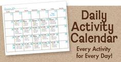 The Art Studio Activity Calendar - MOTHER GOOSE TIME
