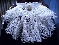 Etsy Jabot  Crochet Jabot  Costume  OOAK  Steampunk  by LenaLucia, $22.00