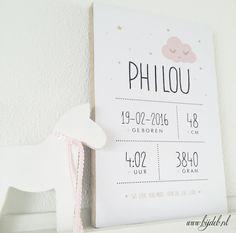 bijdeb: Geboorte bord Philou