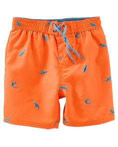 ee463fe8ff Baby Boy OshKosh Schiffli Shark Swim Trunks | OshKosh.com Carters Baby Boys,  Infant