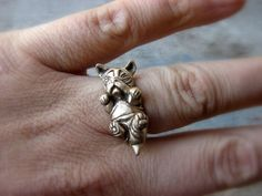 Hey, I found this really awesome Etsy listing at https://www.etsy.com/listing/169627634/french-bulldog-puppy-dog-ring