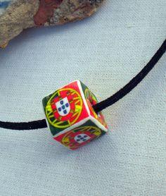 Portugal Portuguese Flag Bead Choker Necklace UNISEX by Atrio,
