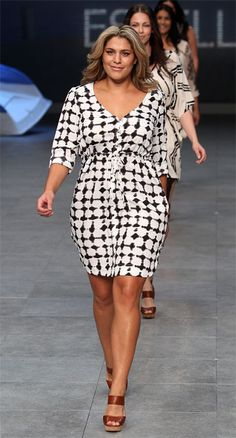 [[Plus size fashion:] Beautiful summer dress.] - how in the world is this 'plus size'?! She looks normal to me