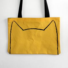 Image of Two-toned Organic Kitty Tote Bag