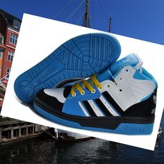 best authentic 1acd9 09005 Adidas Jeremy Scott Sneakers Instinct Hi Yellow Blue White Black