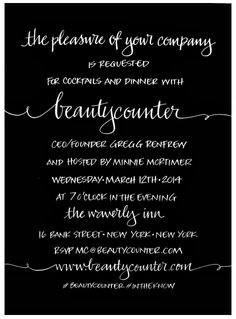 A to Z Calligraphy: Invitations