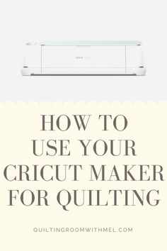 Learn how to use your Cricut Maker for quilting.  Ideas, tips, and projects! #quilting #cricut #cricutmaker Quilting Tools, Quilting Tutorials, Quilting Ideas, Craft Tutorials, Quilting Projects, Modern Quilting, Vinyl Projects, Fun Projects, Project Ideas