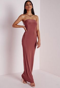 Backless Maxi Dresses, Strapless Cocktail Dresses, Maxi Dress With Sleeves, Strapless Dress Formal, Fishtail Maxi Dress, Pink Cocktail Dress, Long Summer Dresses, Tube Dress, Dresses Online