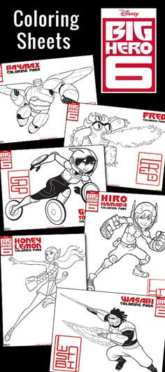 Big Hero 6 Coloring Pages #BigHero6